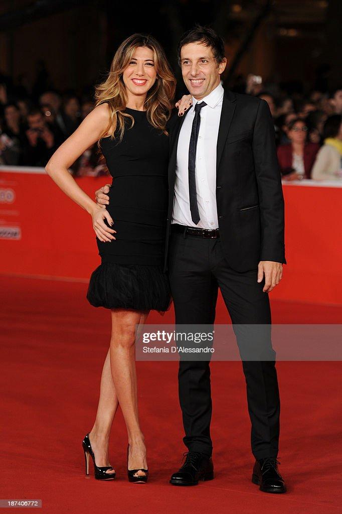 Virginia Raffaele and Ubaldo Pantani attends the Opening Ceremony and 'L'Ultima Ruota Del Carro' Premiere during The 8th Rome Film Festival on...