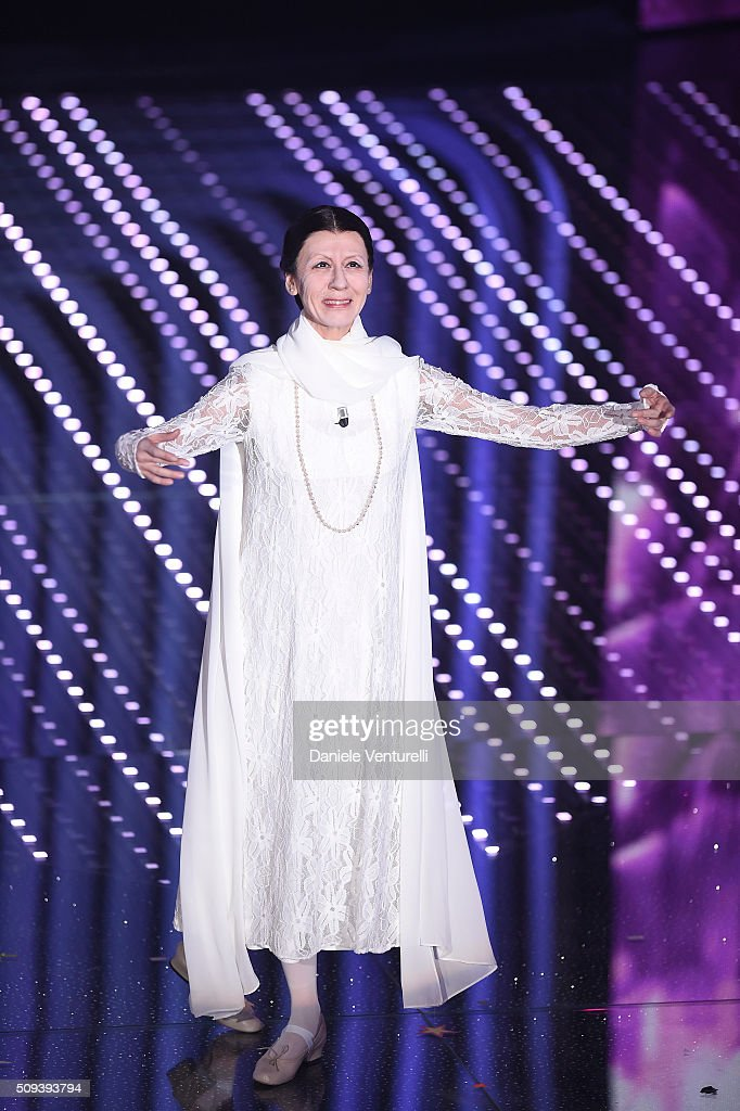 Virginia Raffaele attends second night of the 66th Festival di Sanremo 2016 at Teatro Ariston on February 10, 2016 in Sanremo, Italy.