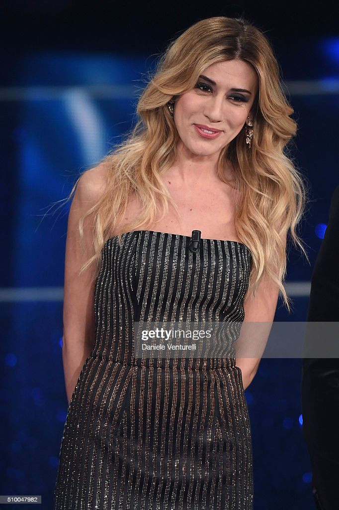 Virginia Raffaele attends the closing night of 66th Festival di Sanremo 2016 at Teatro Ariston on February 13, 2016 in Sanremo, Italy.