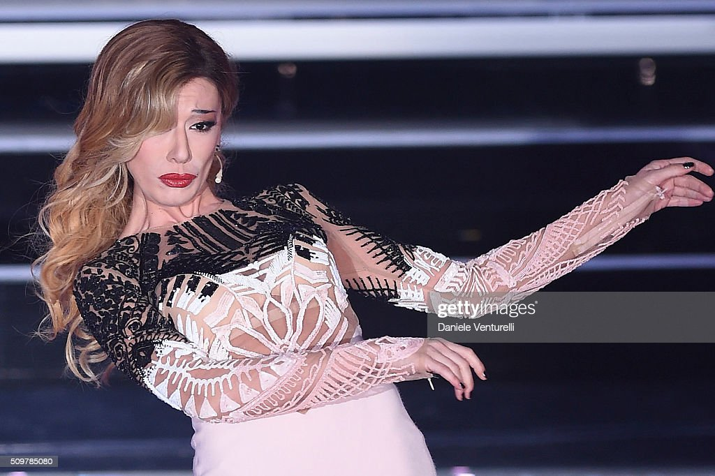 Virginia Raffaele attends the fourth night of the 66th Festival di Sanremo 2016 at Teatro Ariston on February 12, 2016 in Sanremo, Italy.