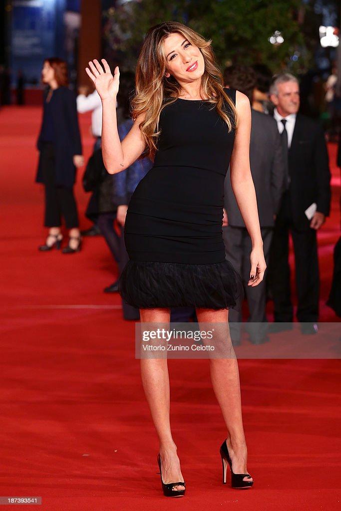 Virginia Raffaele attends the Opening Ceremony and 'L'Ultima Ruota Del Carro' Premiere during The 8th Rome Film Festival at Auditorium Parco Della...