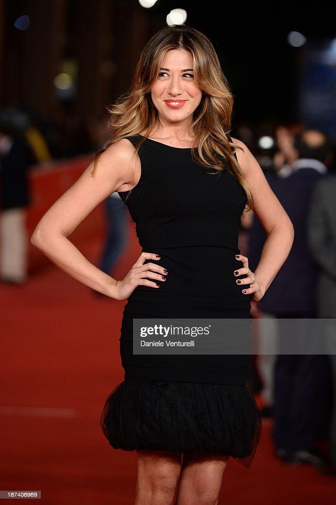 Virginia Raffaele attends the Opening Ceremony and 'L'Ultima Ruota Del Carro' Premiere during The 8th Rome Film Festival on November 8 2013 in Rome...