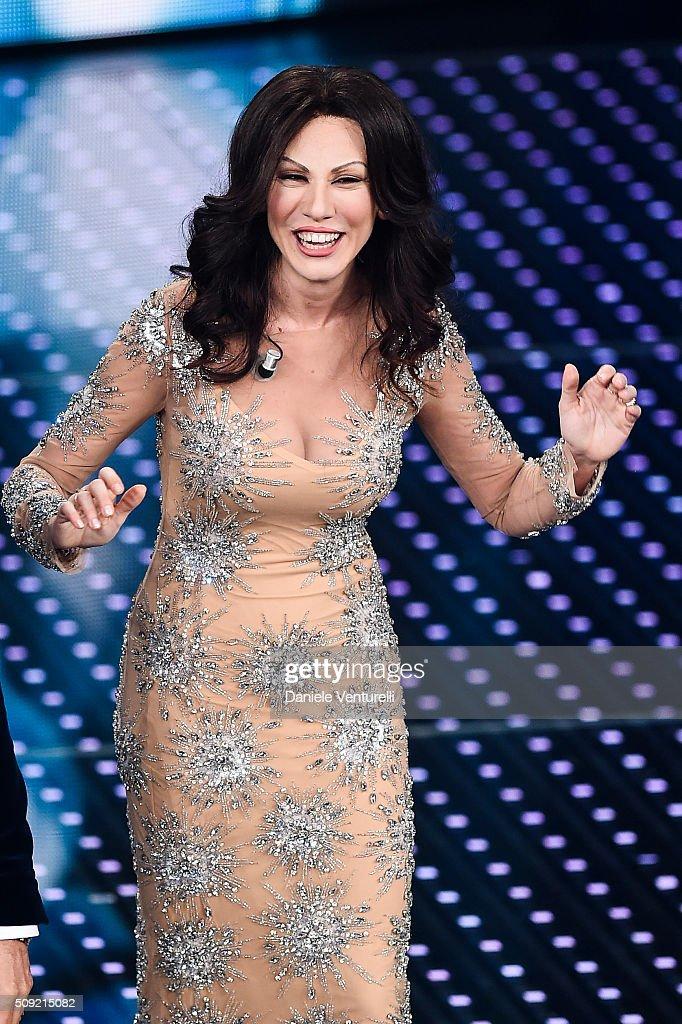 Virginia Raffaele attends the opening night of the 66th Festival di Sanremo 2016 at Teatro Ariston on February 9, 2016 in Sanremo, Italy.