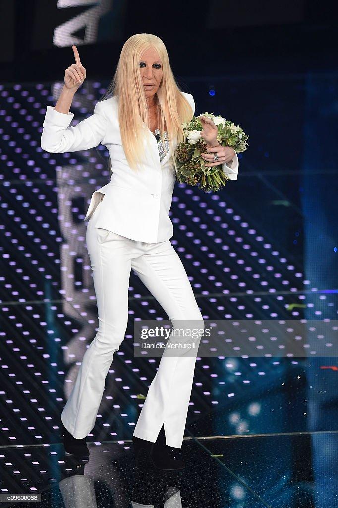 Virginia Raffaele attends the third night of the 66th Festival di Sanremo 2016 at Teatro Ariston on February 11, 2016 in Sanremo, Italy.