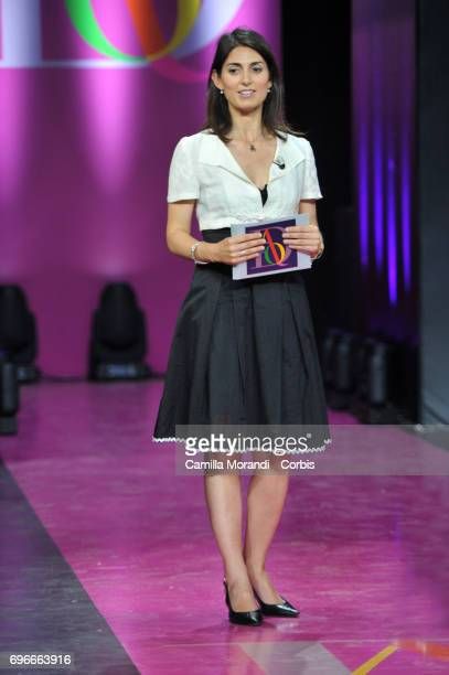 Virginia Raggi attends the Bellisario Awards In Rome on June 16 2017 in Rome Italy