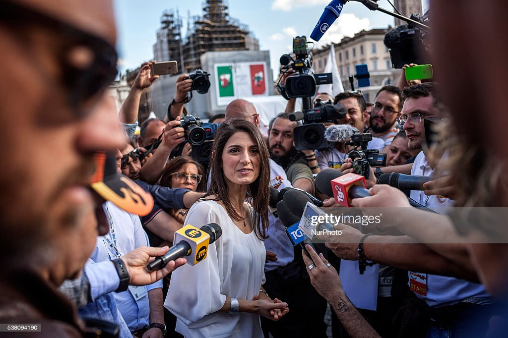 Virginia raggi five star movement m5s candidate for the election of