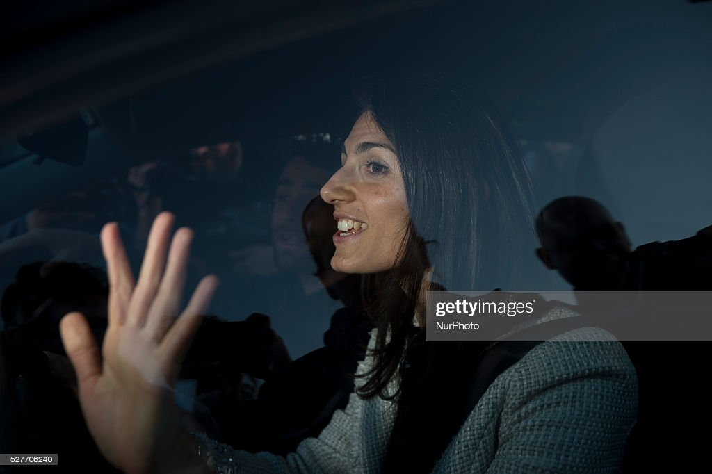 Virginia Raggi Italian politician (M5S) during the first debate between the candidates for mayor of Rome in Rome, Italy on May 3, 2016.