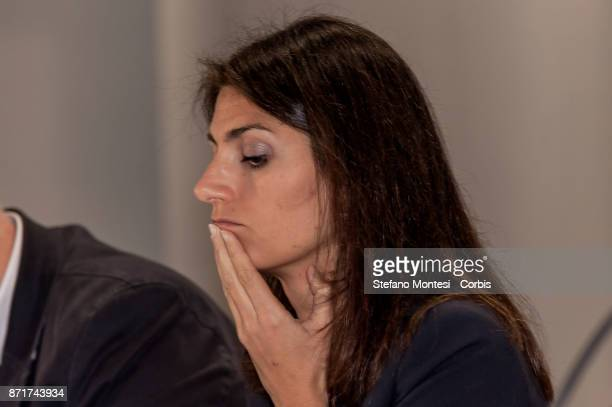 Virginia Raggi Mayor of Rome during a press conference in the former madhouse Santa Maria della Pietà presents the first results of the action on...