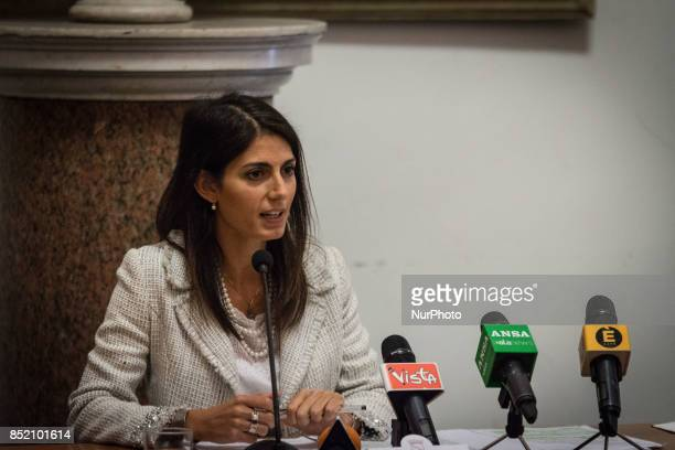 Virginia Raggi Mayor of Rome present the project for the requalification of the former General Markets on September 22 2017 in Rome Italy The project...