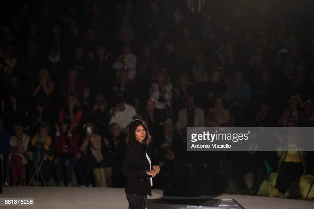 Virginia Raggi Mayor of Rome speaks during the political meeting organized by Five star movement for present the candidate for the presidency of the...