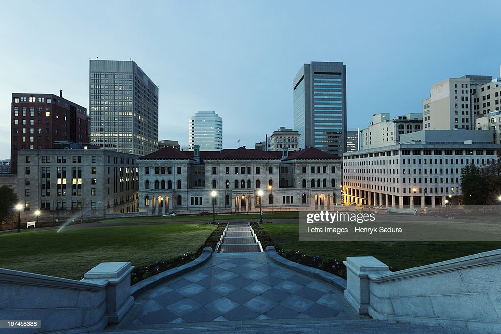 USA, Virginia, Richmond, Cityscape at evening : Stock Photo
