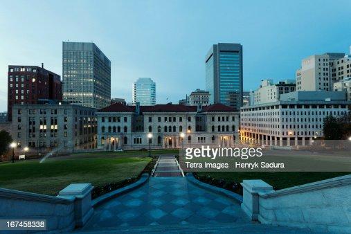 USA, Virginia, Richmond, Cityscape at evening