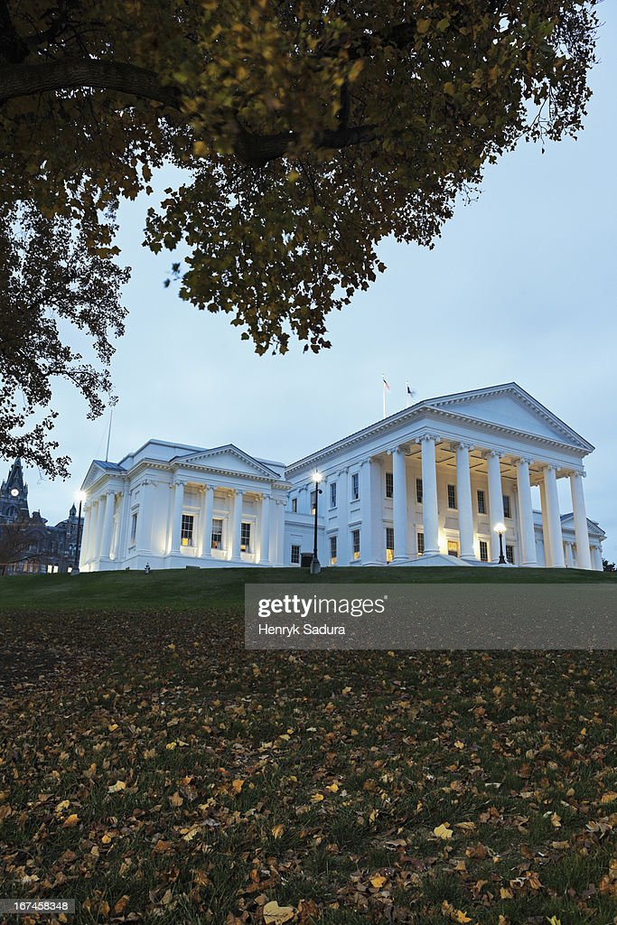 USA, Virginia, Richmond, Facade of State Capitol Building : Stock Photo
