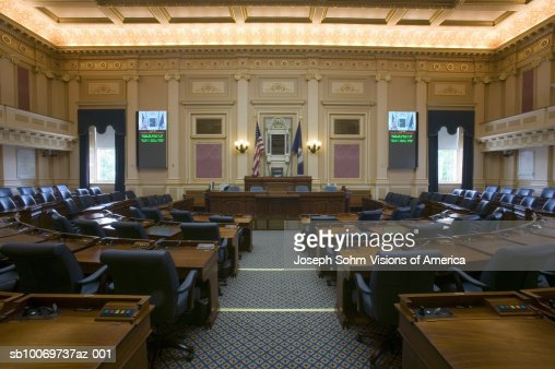 USA  Virginia  Richmond  Virginia State Capitol  empty seats of House of Representatives Chamber. Usa Virginia Richmond Virginia State Capitol Empty Seats Of House
