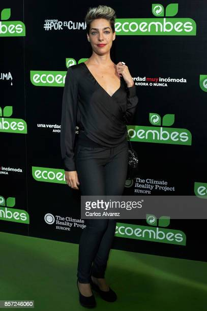 Virginia Rodrigo attends 'An Inconvenient Sequel Truth to Power' premiere at the Callao cinema on October 3 2017 in Madrid Spain