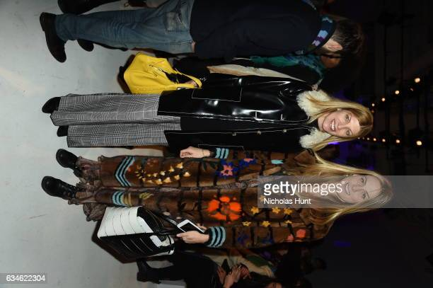 Virginia Smith and Selby Drummond attend the Chromat collection Front Row during New York Fashion Week The Shows at Gallery 3 Skylight Clarkson Sq on...