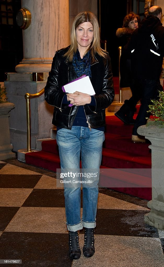 <a gi-track='captionPersonalityLinkClicked' href=/galleries/search?phrase=Virginia+Smith&family=editorial&specificpeople=220533 ng-click='$event.stopPropagation()'>Virginia Smith</a>, Fashion Market/Accessories Director at Vogue arrives at the Zac Posen Fall 2013 Mercedes-Benz Fashion Show at The Plaza Hotel on February 10, 2013 in New York City.