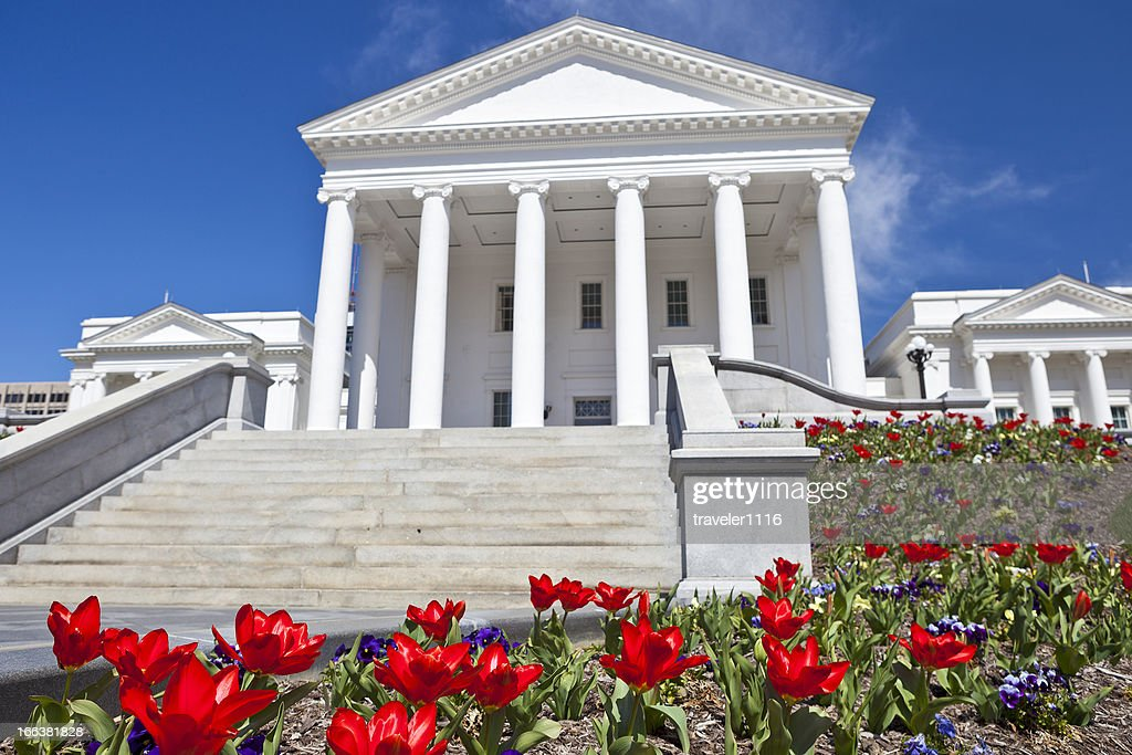 Virginia State Capitol In Richmond, VA During The Spring