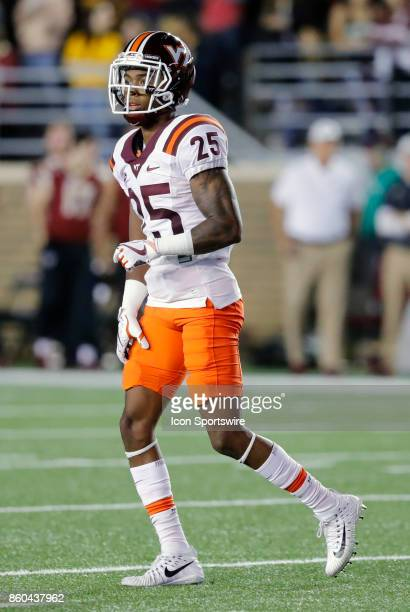 Virginia Tech cornerback Greg Stroman during a game between the Boston College Eagles and the Virginia Tech Hokies on October 7 at Alumni Stadium in...