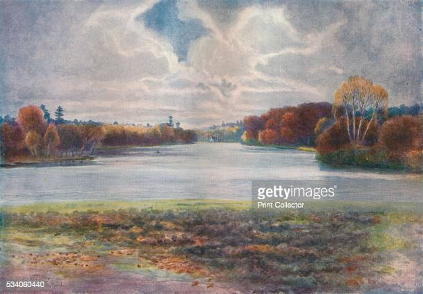 Virginia Water' from 'A Pilgrimage In Surrey Vol 1' by James S Ogilvy 1914 Virginia Water Surrey It is home to the Wentworth Estate and the Wentworth...