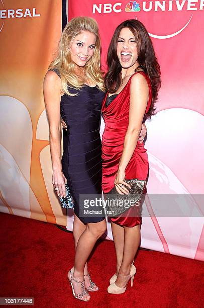 Virginia Williams and Sarah Shahi arrive to the NBC Universal Press Tour AllStar Party held at The Beverly Hilton hotel on July 30 2010 in Beverly...