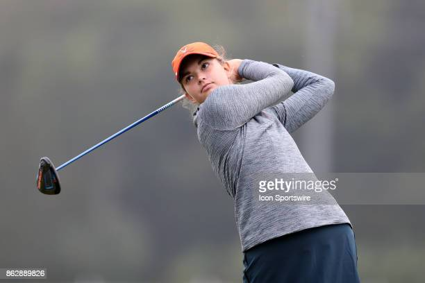Virginia's Kate Harper on the 1st tee during the third and final round of the Ruth's Chris Tar Heel Invitational Women's Golf Tournament on October...