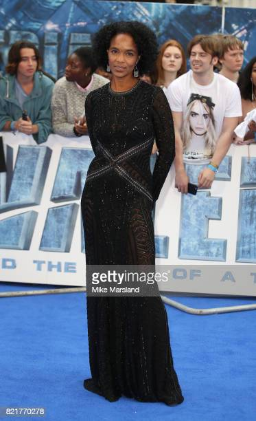 Virginie BessonSilla attends the 'Valerian And The City Of A Thousand Planets' European Premiere at Cineworld Leicester Square on July 24 2017 in...