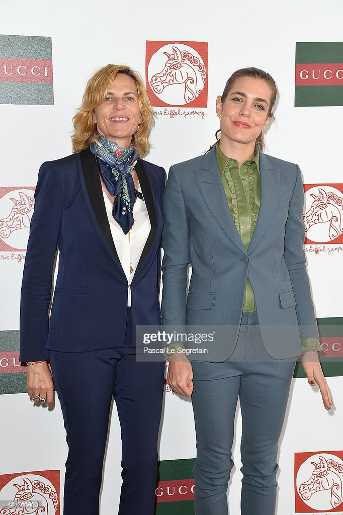 Virginie Couperie-Eiffel and <a gi-track='captionPersonalityLinkClicked' href=/galleries/search?phrase=Charlotte+Casiraghi&family=editorial&specificpeople=206874 ng-click='$event.stopPropagation()'>Charlotte Casiraghi</a> attend the Paris Eiffel Jumping presented by Gucci at Champ-de-Mars on July 6, 2014 in Paris, France.