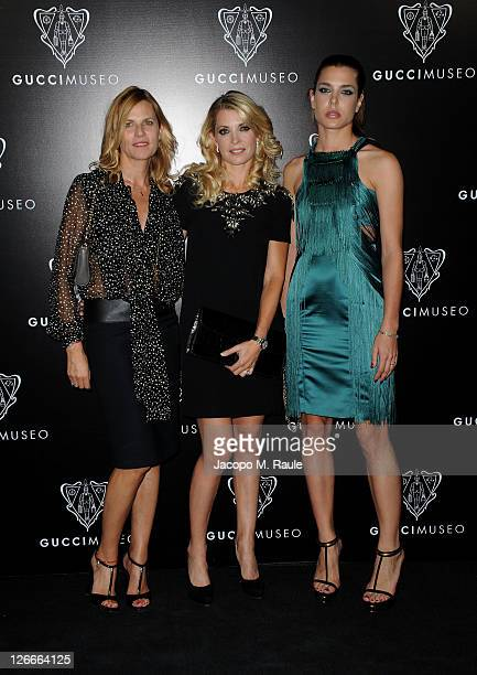 Virginie CouperieEiffel Edwina Alexander and Charlotte Casiraghi attend the Gucci Museum opening on September 26 2011 in Florence Italy