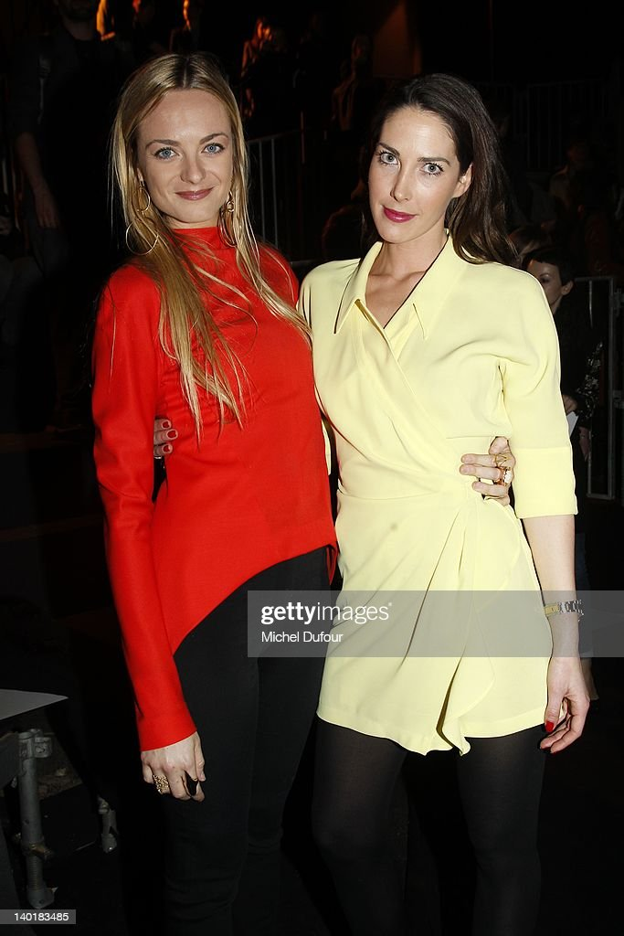Virginie Courtin and Prisca Courtin attend the Mugler ReadyToWear Fall/Winter 2012 show as part of Paris Fashion Week on February 29 2012 in Paris...