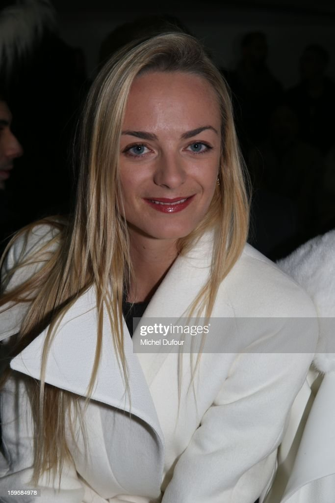 Virginie Courtin attends the Mugler Men Autumn / Winter 2013 show as part of Paris Fashion Week on January 16, 2013 in Paris, France.