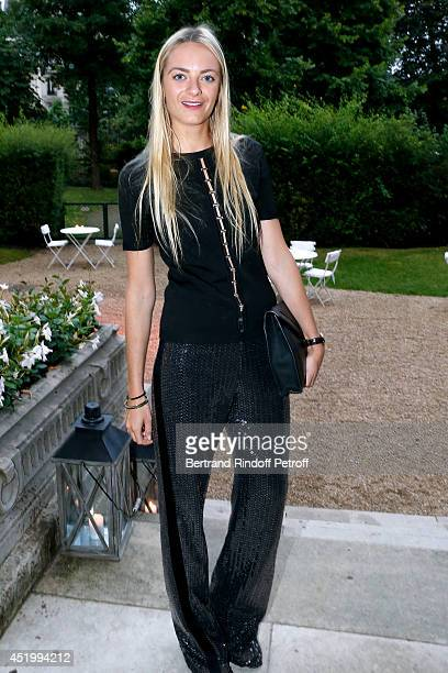 Virginie Courtin Clarins attends the 'Chambre Syndicale de la Haute Couture' Cocktail to celebrate the end of the Paris Fashion Week Held at Hotel...