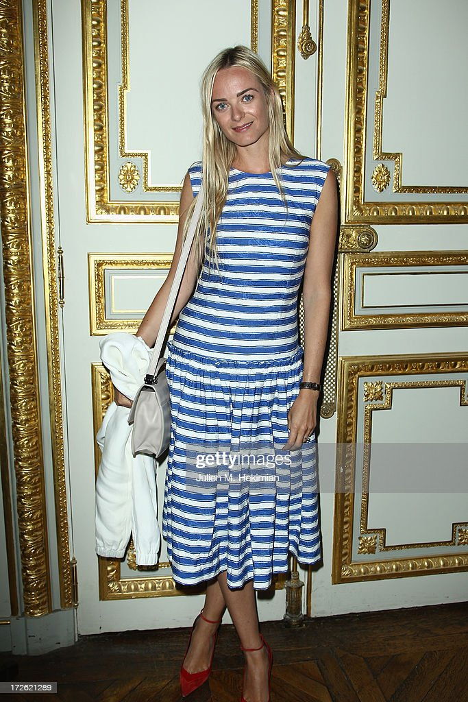 Virginie Courtin Clarins attends the Founder And CEO Alessandro Savelli And Contemporary Style Icon Julia Retoin Roifeld Launch SAVELLI The World's First Luxury Smart Phone Especially For Women During Haute Couture Week at Musee Jacquemart-Andre on July 3, 2013 in Paris, France.