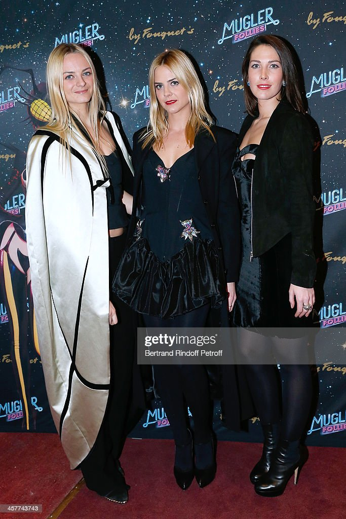 Virginie CourtinClarins and her cousins daughters of Olivier Courtin Clarins Jenna and Prisca CourtinClarins attend the 'Mugler Follies' Paris new...