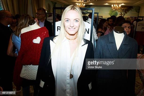 Virginie CourtinClarins attend Buro 24/7 Family Presentation of 9 Fashion Designers from Russia Ukraine and Kazakhstan at Hotel Bristol on October 4...