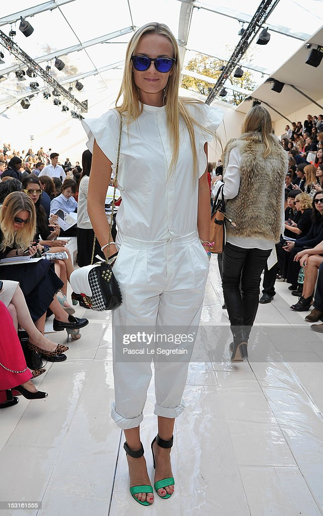 Virginie Courtin-Clarins attends the Chloe Spring / Summer 2013 show as part of Paris Fashion Week at Espace Ephemere Tuileries on October 1, 2012 in Paris, France.