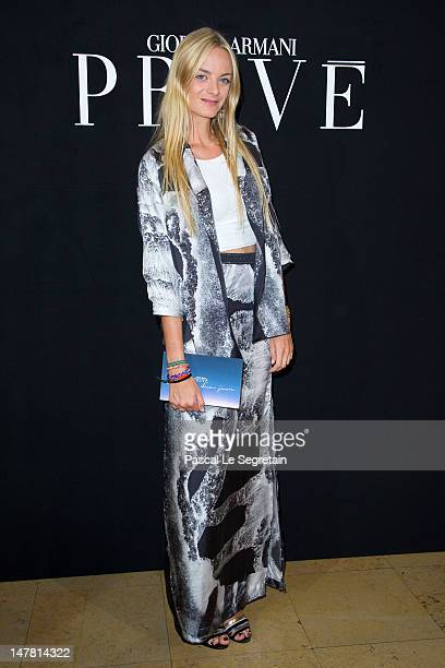 Virginie CourtinClarins attends the Giorgio Armani Prive HauteCouture show as part of Paris Fashion Week Fall / Winter 2012/13 at Palais de Chaillot...