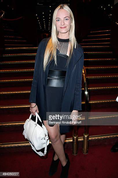 Virginie CourtinClarins attends the 'Mugler Follies' 100th Edition at Le Comedia in Paris on May 26 2014 in Paris France