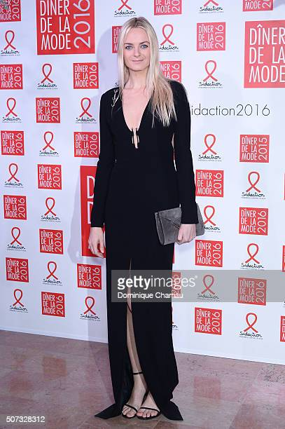 Virginie CourtinClarins attends the Sidaction Gala Dinner 2016 as part of Paris Fashion Week on January 28 2016 in Paris France