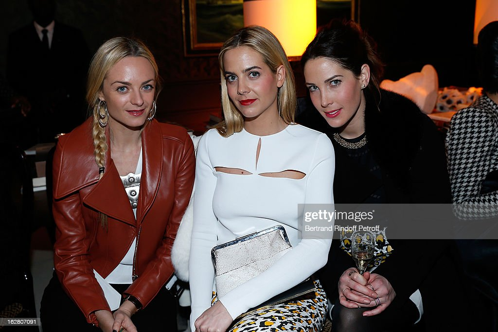 Virginie CourtinClarins Jenna CourtinClarins and Prisca CourtinClarins attend the HM Fashion Show Fall/Winter 2013 ReadytoWear show as part of Paris...