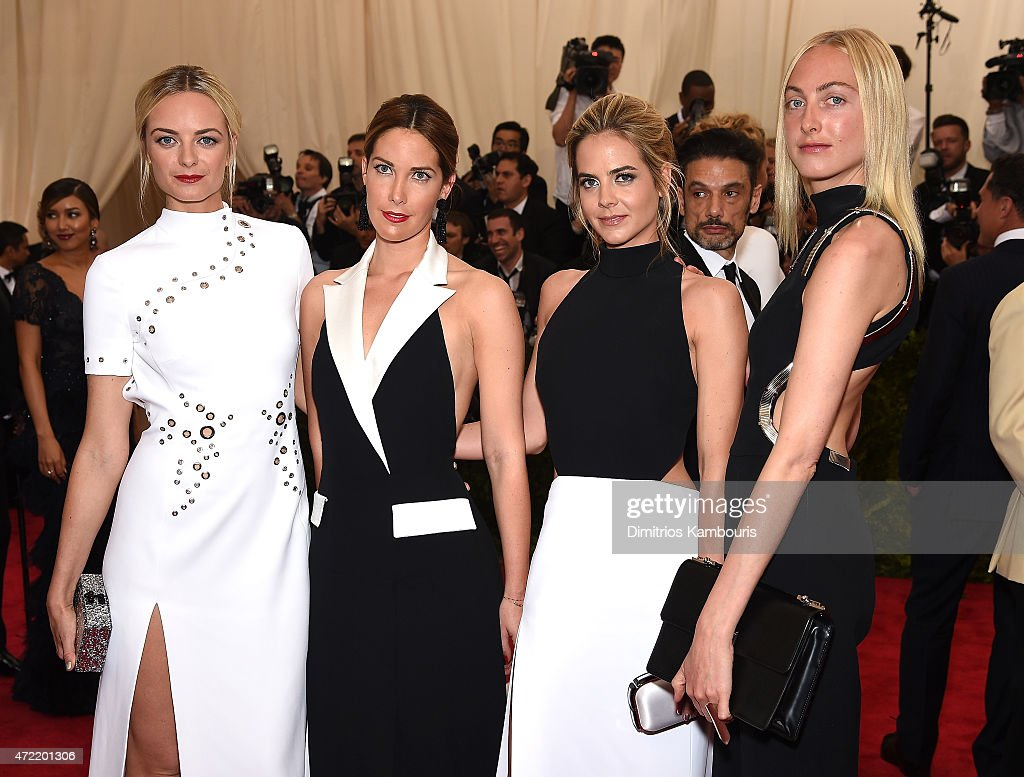 Virginie CourtinClarins Prisca CourtinClarins Jenna CourtinClarins and Claire CourtinClarins attend the 'China Through The Looking Glass' Costume...