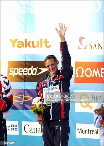 Virginie Dedieu the French champion of the world of synchronized swimming solo in Montreal Canada on July 21 2005Virginie Dedieu who win the gold...