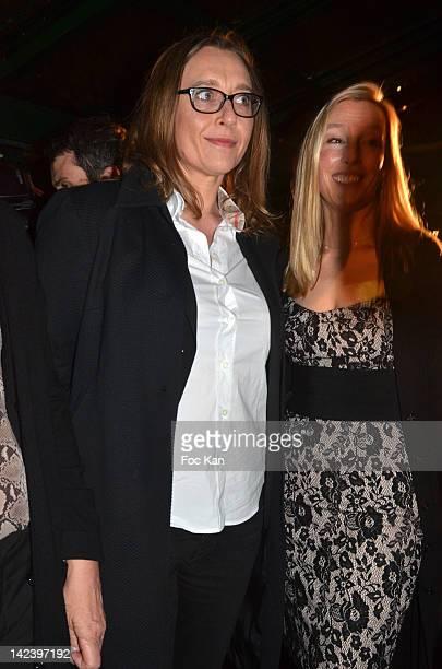 Virginie Despentes and Adelaide de Clermont Tonnerre attend La Closerie des Lilas Litterary Awards 2012 5th Edition at La Closerie Des Lilas on April...