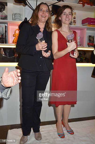 Virginie Despentes and Emilie de Turckheim attend the 'Prix Bel Ami 2012' Women Literary Awards at the Hotel Bel Ami on March 22 2012 in Paris France