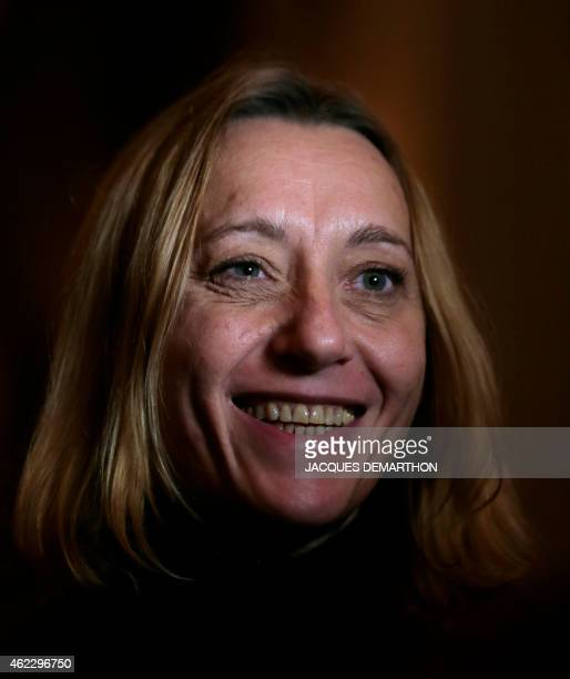 Virginie Despentes first laureate of the Anais Nin Prize poses for a photograph in Paris on January 26 2015 AFP PHOTO /JACQUES DEMARTHON