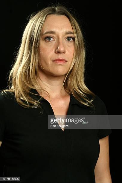 Virginie Despentes on the set of TV show 'Esprit Libre'