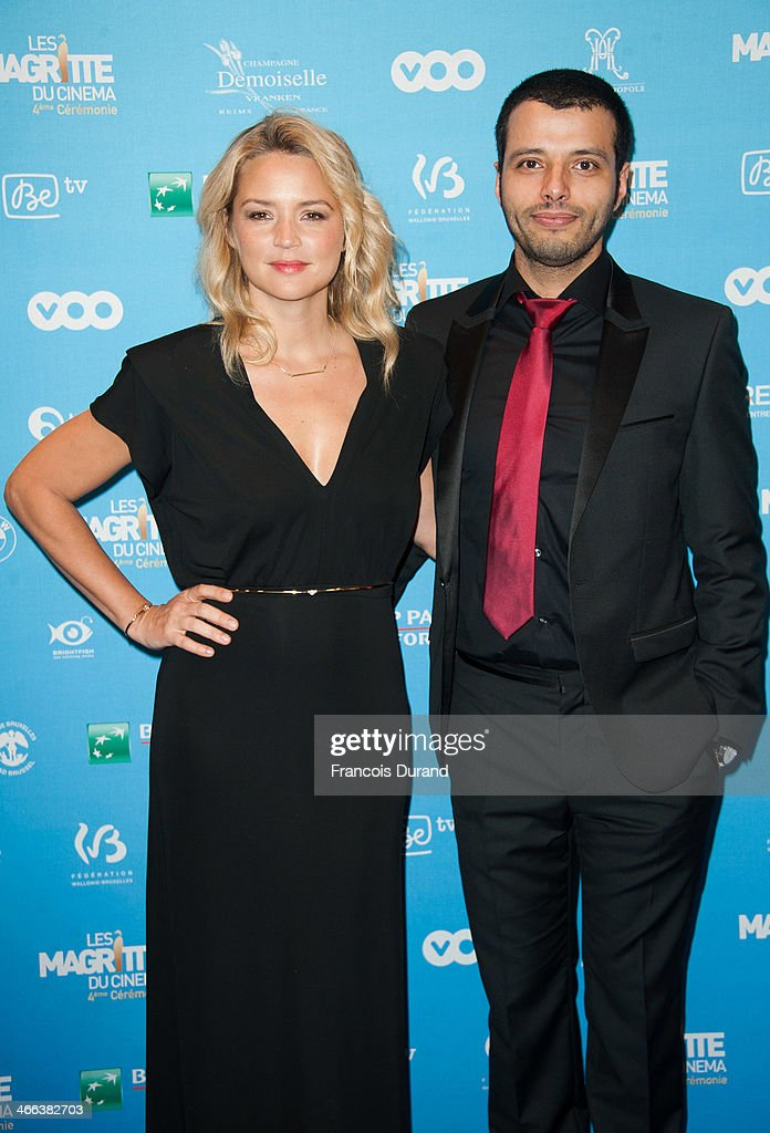 Virginie Efira and her companion Mabrouk El Mechri attend 'Les Magritte Du Cinema 2014' at Square Brussels on February 1, 2014 in Brussel, Belgium.