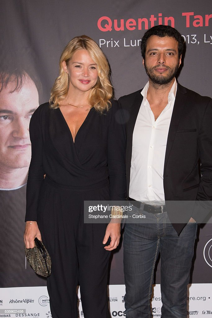 Virginie Efira and Mabrouk El Mechri attend the Tribute to Quentin Tarantino, during the 5th Lumiere Film Festival, in Lyon.