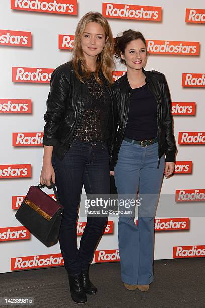 Virginie Efira and Melanie Bernier attend 'Radiostars' premiere at Cinema UGC Normandie on April 2 2012 in Paris France