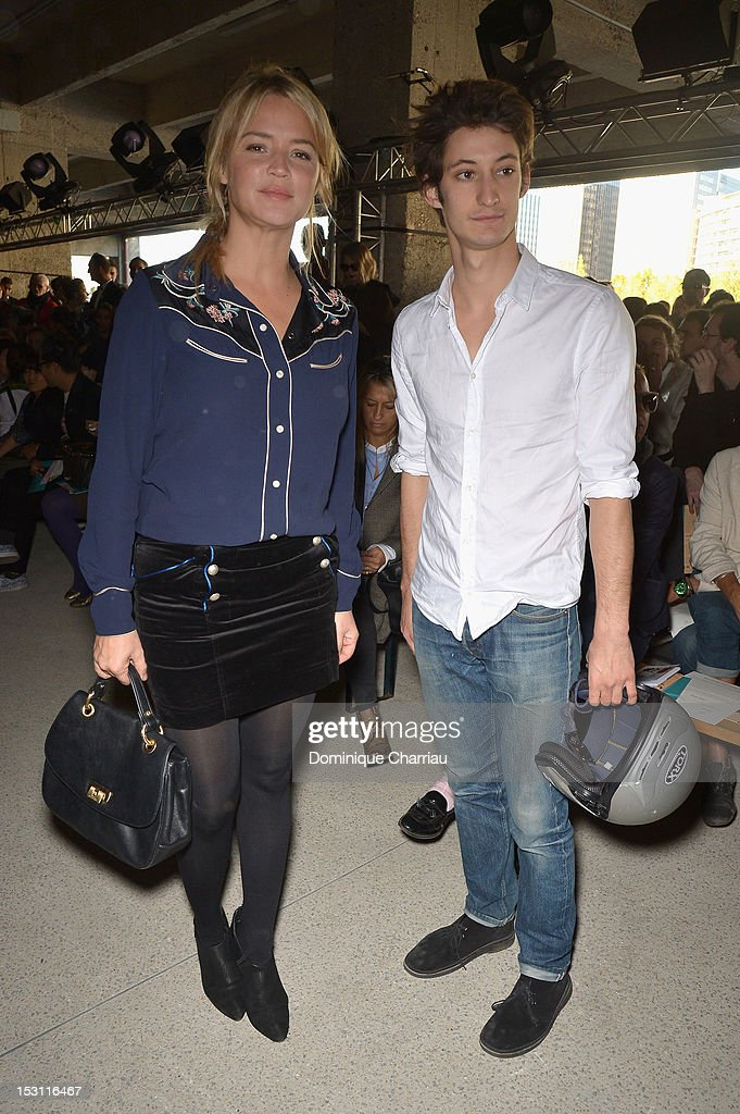<a gi-track='captionPersonalityLinkClicked' href=/galleries/search?phrase=Virginie+Efira&family=editorial&specificpeople=228714 ng-click='$event.stopPropagation()'>Virginie Efira</a> and Pierre Niney attend John Galliano Spring / Summer 2013 show as part of Paris Fashion Week on September 30, 2012 in Paris, France.